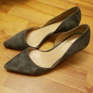 "Sole Society Grey Suede Leather 2.5"" Heels"